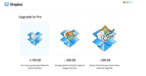 dropbox pricing