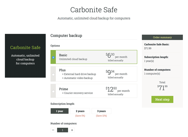 Tearing down the pricing of Carbonite and Backblaze
